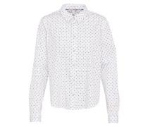Bluse 'cotton blend po' schwarz / weiß