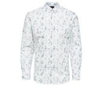 Print Hemd weiß