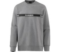 Sweatshirt 'Buena' grau / schwarz / weiß