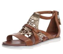 Sandale 'katana' braun / gold