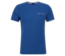 T-Shirt 'Fine stripe' blau