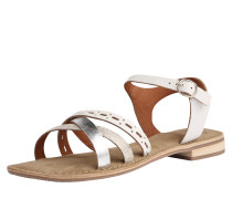 Sandale 'Carla' silber / weiß