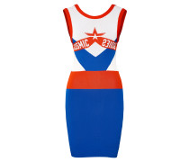 Kleid 'm-Cosmika' blau / rot / weiß