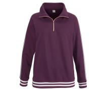 Sweatshirt bronze / aubergine / weiß
