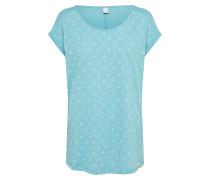 Tshirt 'Lil Cactus' hellblau / weiß