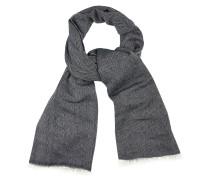 Schal nachtblau / weiß