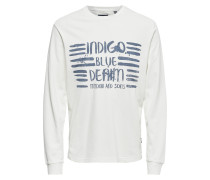 Print Sweatshirt weiß