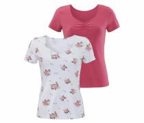 T-Shirts (2 Stück) rosa / weiß