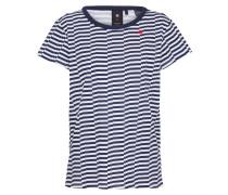 Shirt in Streifenoptik blau / weiß