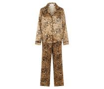 Pyjama hellbraun / dunkelbraun
