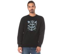 Sweatshirt hellblau / schwarz