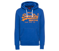 Hoodie 'vintage Logo Hood' blau / orange