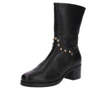 Boots 'round Stud' schwarz