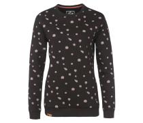 Sweatshirt 'Uelle Dots' schwarz