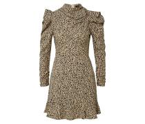 Kleid schwarz / stone / creme