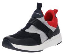 Sneaker grau / hellrot / schwarz