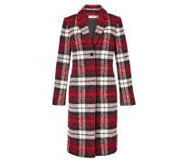 Mantel rot / schwarz / weiß