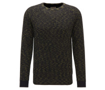 Pullover 'Men' oliv / schwarz