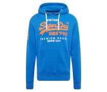 Sweatshirt blau / orange / weiß