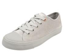 Sneaker im Samt-Look hellgrau