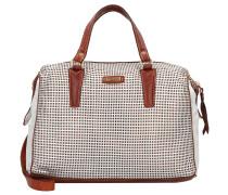 Handtasche silber / karamell