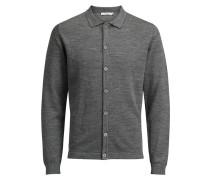 Strick-Cardigan Woll graumeliert