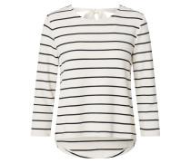 Shirt 'onlfinea' schwarz / beige