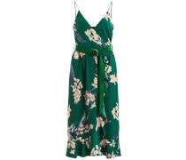 Kleid blau / grün / pfirsich