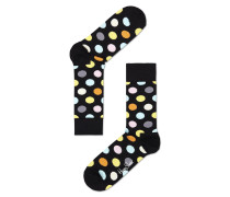 Socke 'big Dot' blau / gelb / schwarz