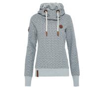 Pullover mit Print graumeliert