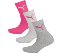 Socken graumeliert / pink