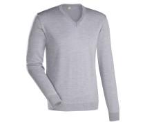 Pullover ' Slim Fit ' grau