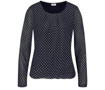T-Shirt kobaltblau / weiß