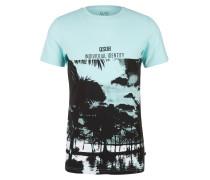 T-Shirt mint / schwarz