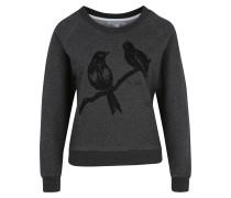 Sweatshirt 'Love Birds' dunkelgrau