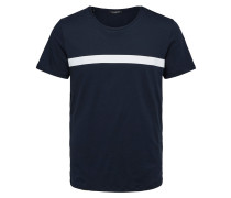 T-Shirt saphir / weiß