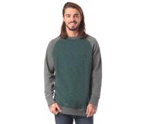 Sweatshirt anthrazit / dunkelgrün