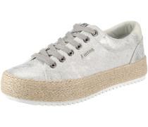 Sneakers 'Caribe' hellbeige / silber