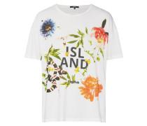 Shirt 'island Msn' mischfarben / weiß