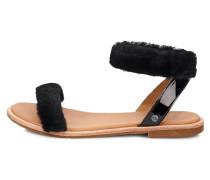 Sandale 'Fluff Springs' schwarz
