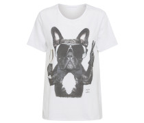 Shirt 'Champagne Dog' weiß