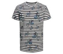T-Shirt himmelblau / schwarz / weiß