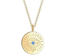 Halskette 'Evil Eye' blau / gold