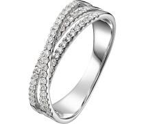 Ring 'Diamonds' gold / silber / weiß