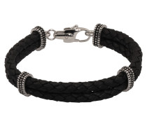 Armband 'Leather Bracelet black' schwarz