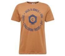Shirt 'auba Tee' sand / dunkelblau