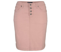 Jeansrock mit Knopfleiste rosa