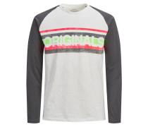 Shirt basaltgrau / hellgrau