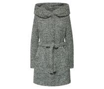 Mantel hellgrau / schwarz