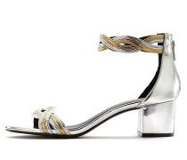 Sandalette gold / silber